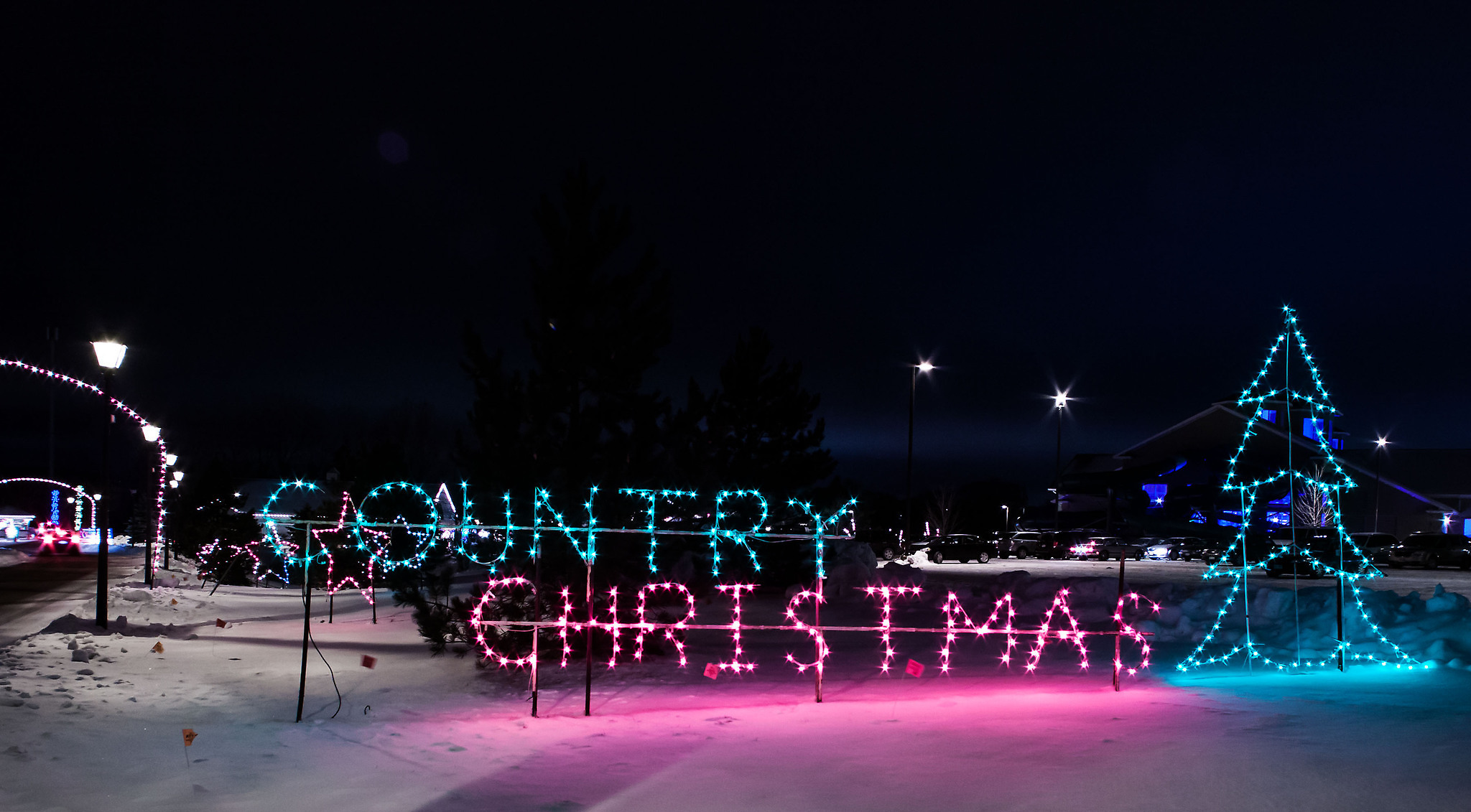country christmas sparkles again with a nod toward its founder - Country Springs Christmas Lights